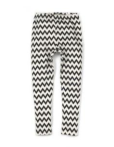 Zwart-wit zig zag legging - Yporque