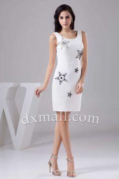 Short Cocktail Dresses Square Short/Mini Taffeta White 020010600973