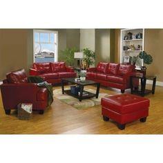 Coaster Red Bonded Sofa 501831 Sofa New | eBay