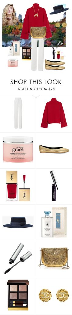 """Central Park"" by chauert ❤ liked on Polyvore featuring Amanda Wakeley, philosophy, Rebecca Minkoff, Yves Saint Laurent, By Terry, Anine Bing, Bulgari, La Prairie, From St Xavier and Tom Ford"
