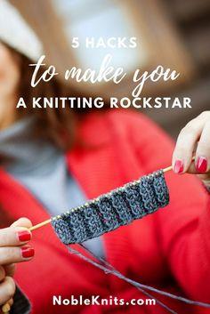 5 Hacks to Make You a Knitting Rockstar - Crafting Today - Love Knitting Love Knitting, Easy Knitting, Knitting Stitches, Knitting Needles, Knitting Yarn, Knitting Patterns, Quick Knitting Projects, Knitting For Beginners, Knitting Tutorials