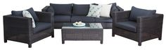 #OutdoorSofaSets - San Remo #SofaSet (3 Seater) - Segals Outdoor Furniture Outdoor Sofa Sets, Outdoor Furniture Sets, Outdoor Decor, Comfy Sofa, Relax, Lounge, San, Dining, Chair