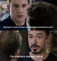 Sherlock Holmes Tony Stark Iron Man Robert Downey Jr Avengers #Recipe #hair #food #DIY