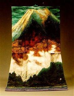 Japanese Embroidery Kimono Lumiere Brodee Kimonos by Itchiku Kubota Japanese Quilts, Japanese Textiles, Japanese Patterns, Yukata, Furisode Kimono, Japanese Culture, Japanese Art, Japanese Design, Look Kimono