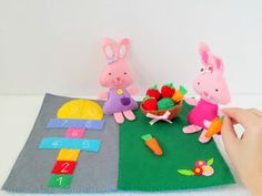 Hey, I found this really awesome Etsy listing at https://www.etsy.com/listing/291291945/play-mat-picnic-hopscotch-bunny-toy