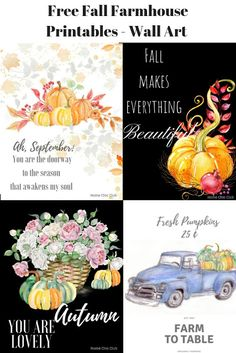 September 2018 Calendar/ Free Farmhouse Fall Printables/ Home Chic Club