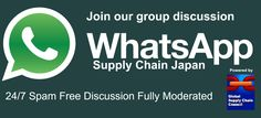 Join our discussion group on WhatsApp focused on supply chain and logistics in Japan. Click on https://chat.whatsapp.com/4Tnzg7gIvvdCJOzDGf3R6D to join.