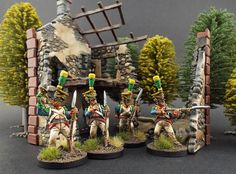 "28mm Front Rank Miniatures ~ Napoleonic Polish ~ Voltigeurs ~  ""Refined Campaign Style"" ~ Wether to Weather ? (That is the Question)"