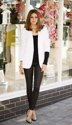 Olivia Palermo, white blazer