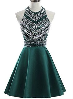 A-Line ,Green, Satin Crystal, Short, Homecoming Dress from HotProm - Homecoming Dresses Champagne Homecoming Dresses, Cheap Homecoming Dresses, Cute Prom Dresses, Grad Dresses, Cheap Dresses, Pretty Dresses, Sexy Dresses, Beautiful Dresses, Fashion Dresses