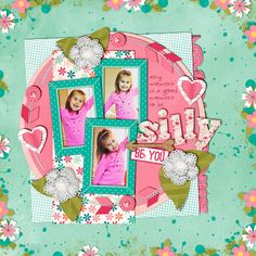 Digital Scrapbook Layout using Whack-a-Doo by Robin Carlton and Traci Reed
