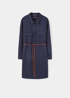 Vestito camicione lino | VIOLETA BY MANGO