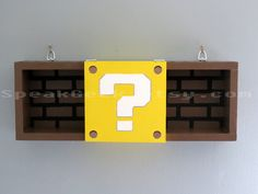 Super Mario Bros Shelf  Shadow Box Shelf  Modern by SpeakGeek, $89.00