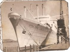 """The ship """"Vera Cruz"""" , built in 1952, one of twin ships that took my parents from Portugal to Brazil. The other ship was called """"Santa Maria"""". They both were scrapped in 1973... because of their alleged involvement to the opposition of the Portugals Dictator Salazar."""