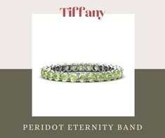 August Baby, Alternative Bride, Looking Stunning, Eternity Bands, Jewelry Collection, Color Pop, Tiffany, Wedding Bands, Peridots