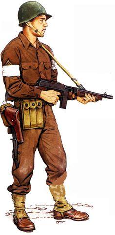 U.S. Staff Sergeant, 1st Rangers, Tunisia february 1943