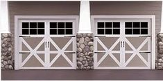 9700 Wayne Dalton Vinyl & Steel Carriage house door by garage doors 4 Less. Carriage House Garage Doors, Modern Garage Doors, Overhead Garage Door, Wood Garage Doors, Carriage Doors, Barn Doors, Wayne Dalton Garage Doors, Garage Door Springs, Dream House Exterior