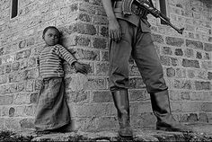 James Nachtwey, Congo (Child with UN Soldier), 2008  by kraftgenie, via Flickr