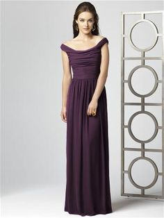 Dessy Collection Style 2859 in Aubergine. Tatiana's dress-- cut to tea or cocktail length