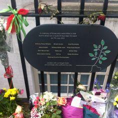 The street of terrorist attack in london