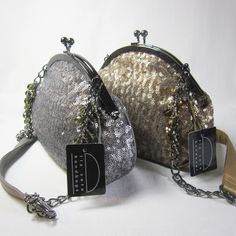 Dressy champagne/gold/pewter sequined clutch with crystal beaded chain holder, matching interior and snap clasp closure designed by Liz Soto. Excellent quality. Great for your Dressy Date or as a gift. #handbags, #purses,  #accessories, #fashion, #elegant, #women, #beautiful, #designer