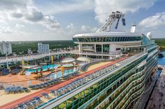 This was day-6 and the last port of call at Cozumel, Mexico on our Western Caribbean cruise aboard Royal Caribbean's Allure of the Seas. We were docked right next to Royal Caribbean's Navigator of the Seas, shown here.