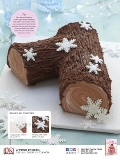 Yule Log cake recipe #christmas
