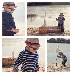 cutest pirate photo shoot...love his little outfit, too!!