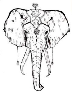 Sketches Elephant Images Black And White