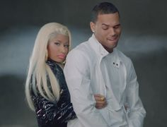 The highly anticipated duet between Nicki Minaj and Chris Brown, Right By My Side has just been released and it's a lot more R than expected! Chris Brown Music, New Chris Brown, Chris Brown Nicki Minaj, Pop Culture News, Latest Music Videos, Music Film, My Side, Hollywood Stars, To My Future Husband