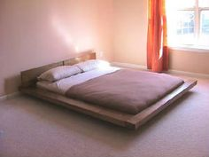 Walnut King platform bed by AugustmoonBeds on Etsy