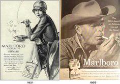 The evolution of the Brand of Marlboro (Cigarette made for women->Marlboro Man)