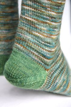 Toe up, afterthought heel, Russian bind off