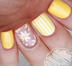23 Large Yellow Nail Art Designs 2019 Source by Cute Acrylic Nails, Cute Nails, Pretty Nails, Yellow Nails Design, Yellow Nail Art, Spring Nails, Summer Nails, Nail Polish, Easter Nails