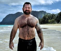 This wet, hairy Bear would be even hotter in a tiny Speedo!