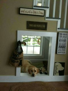 "Dog den under the stairs From your friends at phoenix dog in home dog training""k9katelynn"" see more about Scottsdale dog training at k9katelynn.com! Pinterest with over 20,100 followers! Google plus with over 136,000 views! You tube with over 500 videos and 60,000 views!! Serving the valley for 11 plus years"