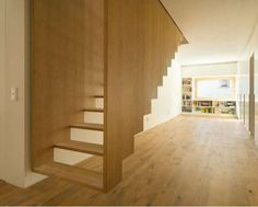 Suspended Staircase by SoHo Architecture / stairs / modern home / contemporary design / loft Floating Staircase, Modern Staircase, Staircase Design, Timber Staircase, Stair Design, Staircase Ideas, Spiral Staircase, Floating Floor, Interior Stairs