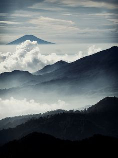 Layers by ro0m33 view from Tangkuban Perahu, West Java, Indonesia // disassociativ:grvnge