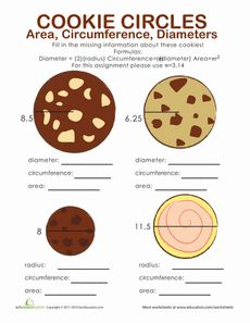 Area, Circumference, and Diameter of a Circle (W19-W20)
