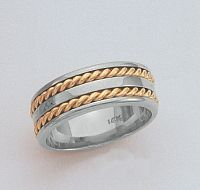 man's nautical wedding band