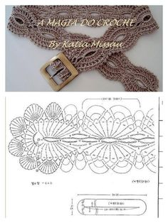 Crochet lace strip belt; may also come in handy for shoulder straps, girly headbands, etc