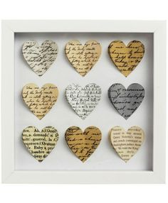 Framed Paper Art Hearts   .....i think i could make this?