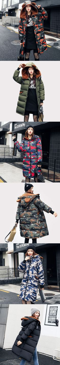 Camouflage Military Jackets 2017 Winter Jacket Women Lambs Wool Parka Thick Hood Down Cotton Coat Casaco Feminino Inverno C3369
