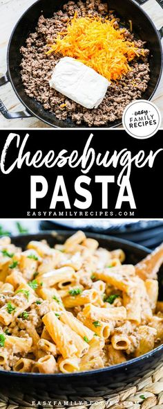 superb Home made Cheeseburger Pasta Components together with floor beef, cheddar cheese, cream cheese, milk, pasta Supply : Cheeseburger Pasta · Easy Family Recipes by theresaegnot Board : Try ASAP… Ground Beef Recipes For Dinner, Dinner With Ground Beef, Easy Dinner Recipes, Ground Beed Recipes, Recepies With Ground Beef, Dinner Ideas With Beef, Pasta Facil, Pasta Casera, Easy Family Meals