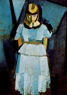 Young Lady in Blue by Harald Giersing, 1918