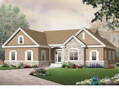 Craftsman House Plan with 1808 Square Feet and 3 Bedrooms from Dream Home Source | House Plan Code DHSW50566