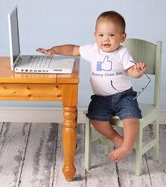 """""""Mommy Likes This"""" baby tee"""