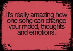 This...is what I LoVe so much about mUsiC! :)