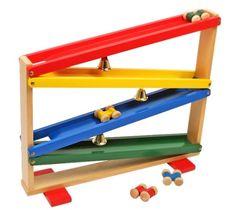 Original circuito infantil de bolas con coches de madera y cascabeles. Ref Berlín 121006 , Juguetes online, Feber, Injusa, maquetas, puzzles y juguetes de madera
