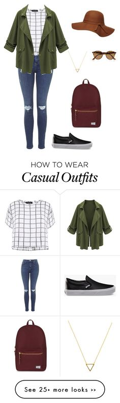 """Casual"" by colette-waslen on Polyvore featuring Vans, Topshop, Myne, Wanderlust + Co, Herschel Supply Co., Ray-Ban and Dorothy Perkins"